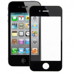 iPartsBuy for iPhone 4 & 4S Front Screen Outer Glass Lens(Black)