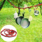 Outdoor Camping Tent Rainbow Rope Decoration Color Ribbon and a Storage Bag, Size: 187*2 cm