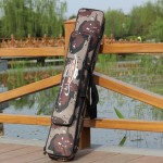 Desert Camouflage Double Layer Fishing Rod Package Waterproof Moisture - Proof Fishing Bag,Length:80 cm