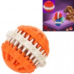 Dog Toy Balls for Pets Tooth Cleaning Chewing Toys Balls of Non-Toxic Soft Rubber , Small Size (Orange)