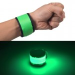 LED Luminous Velcro Slap Pat Circle Outdoors sports Wristband, Small, Size:26*4cm(Green)
