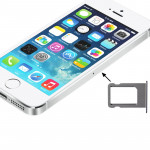 iPartsBuy for iPhone 5S Original Sim Card Tray Holder(Silver)