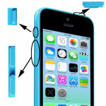 3 in 1 (Mute Button + Power Button + Volume Button) for iPhone 5C, Blue