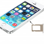 For iPhone 5S Original Sim Card Tray Holder(Gold)
