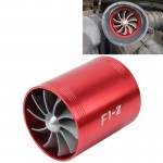 F1-Z Voiture Inox Universel Supercharger rouge Double Double Turbine Entrée d'Air Économiseur de Carburant Turbo Turboing Cha...