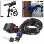 Copper Cable Security Bicycle Lock Set