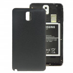 Litchi Texture Plating Plastic Material Replacement Back Cover for Samsung Galaxy Note III / N9000(Black)