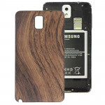 Wood Texture Plating Plastic Material Replacement Back Cover for Samsung Galaxy Note III / N9000(Brown)
