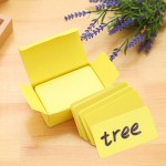 About 90 PCS in One Box Blank DIY Greeting Card Graffiti Rounded Small Card Blank Small Handwritten Paper Card Message Word Card