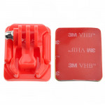 Curved Surface Mount + 3M Mount Stickers for GoPro HERO4 / 3+ / 3 / 2 / 1(Red)