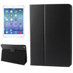 Litchi Texture Flip Leather Case with Holder & Sleep / Wake-up Function for iPad Air(Black)