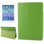 Litchi Texture Flip Leather Case with Holder & Sleep / Wake-up Function for iPad Air(Green)