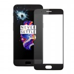 iPartsBuy OnePlus 5 Front Screen Outer Glass Lens(Black)
