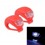 2 PCS 3 Modes 2-LEDs Waterproof Bicycle Rear Light Headlights Warning Light(Red)