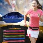Multifunctional Outdoor Sports Waterproof High Stretch Faux Leather Fabric Single Waist Bag with Night Reflective Strip, Random