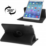 360 Degree Rotation Litchi Texture Leather Case with 3 Gears Holder & Sleep / Wake-up Function for iPad Air (Black)
