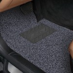 Universal Car Anti-slippery Rubber Mat PVC Coil Soft Floor Protector Carpet(Grey)
