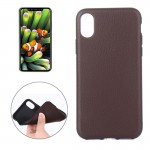 For iPhone 8 Litchi Texture TPU Shockproof Protective Back Cover Case,Small Quantity Recommended Before iPhone 8 Launching(Brown