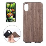 For iPhone 8 Black Rose Wood Texture TPU Shockproof Protective Back Cover Case,Small Quantity Recommended Before iPhone 8 Launch