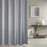Thickening Waterproof And Mildew Curtain Honeycomb Texture Polyester Cloth Shower Curtain Bathroom Curtains,Size:240*200cm(Grey)
