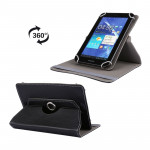 Litchi Texture 360 Degree Rotatable Universal Leather Case with Sleep / Wake-up & Holder for 7.0 inch Tablet PC(Black)