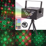 2-color Holographic Anime Laser Stage Lighting Fireworks Projector with MP3 Player Function / Remote Control & Dynamic Liquid S