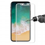 ENKAY Hat-Prince for iPhone 8 0.2mm 9H Surface Hardness 3D Explosion-proof Full Screen Curved Heat Bending Tempered Glass Screen