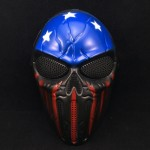 Halloween Cosplay Party Full Face Airsoft Captain Skull Mask