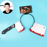 Halloween Costume Party Whole Horror Wear Head Props Kitchen Knife Hair Hoop Game Show Supplies