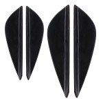 2 Pair Car Styling Body Head Side Light Lamp Frame Stick Cover Trim Car Styling Side Light Decoration Trim Cover Auto Accessorie