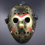 Halloween Party Cool Thicken Jason Mask(Gold)