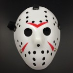 Halloween Party Cool Thicken Jason Mask (Red + White)