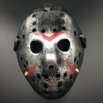 Halloween Party Cool Thicken Jason Mask(Silver)