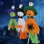 3 PCS Halloween Hanging Ghost Pendant Pumpkin Halloween Decorations, Random Color Delivery