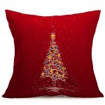 Christmas Festival Pattern Car Sofa Pillowcase with Decorative Head Restraints Home Sofa Pillowcase, B, Size:43*43cm