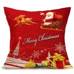 Christmas Festival Pattern Car Sofa Pillowcase with Decorative Head Restraints Home Sofa Pillowcase, P, Size:43*43cm