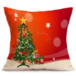 Christmas Festival Pattern Car Sofa Pillowcase with Decorative Head Restraints Home Sofa Pillowcase, G, Size:43*43cm
