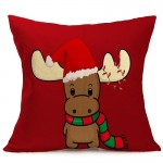 Christmas Festival Pattern Car Sofa Pillowcase with Decorative Head Restraints Home Sofa Pillowcase, J, Size:43*43cm