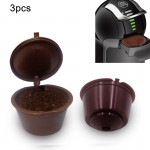 3 PCS Dolce Gusto Capsules Reusable Shell Nestle Capsule Filling Type Coffee Filter, Random Color Delivery