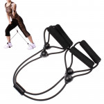 X Shaped Rubber Body Building Training Pull Rope Exerciser(Black)