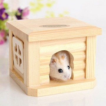 14fd0f65a97 Pet Flat Roof Wooden House Hut Pets Cage for Small Animal Rabbit Hamster