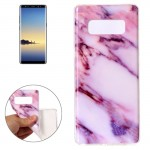 For Samsung Galaxy Note 8 Pink Marble Pattern TPU Shockproof Protective Back Cover Case