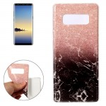 For Samsung Galaxy Note 8 Black Gold Marble Pattern TPU Shockproof Protective Back Cover Case