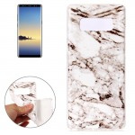 For Samsung Galaxy Note 8 White Marble Pattern TPU Shockproof Protective Back Cover Case