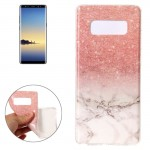 For Samsung Galaxy Note 8 Marble Pattern TPU Shockproof Protective Back Cover Case