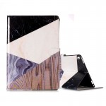 For iPad Pro 10.5 inch (2017) Purple Black Color Matching Marble Pattern Horizontal Flip Leather Protective Case with Holder & C