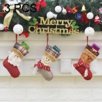 3 PCS Hang Ornament Christmas Stockings Present Bags, Random Style Delivery