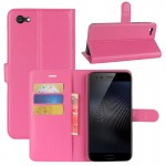 vivo X9s Plus Litchi Texture Horizontal Flip Leather Case with Holder & Card Slots & Wallet (Magenta)