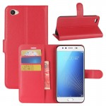 vivo X9s Litchi Texture Horizontal Flip Leather Case with Holder & Card Slots & Wallet (Red)