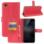 vivo X9s Plus Litchi Texture Horizontal Flip Leather Case with Holder & Card Slots & Wallet (Red)